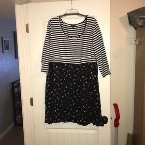 Torrid Knit-to-Woven Skater Dress, 3